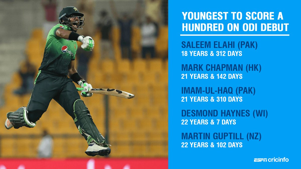 Imam-ul-Haq became only the second Pakistan player to score a hundred on ODI debut   https://t.co/x7pqGjvnIh #PAKvSL