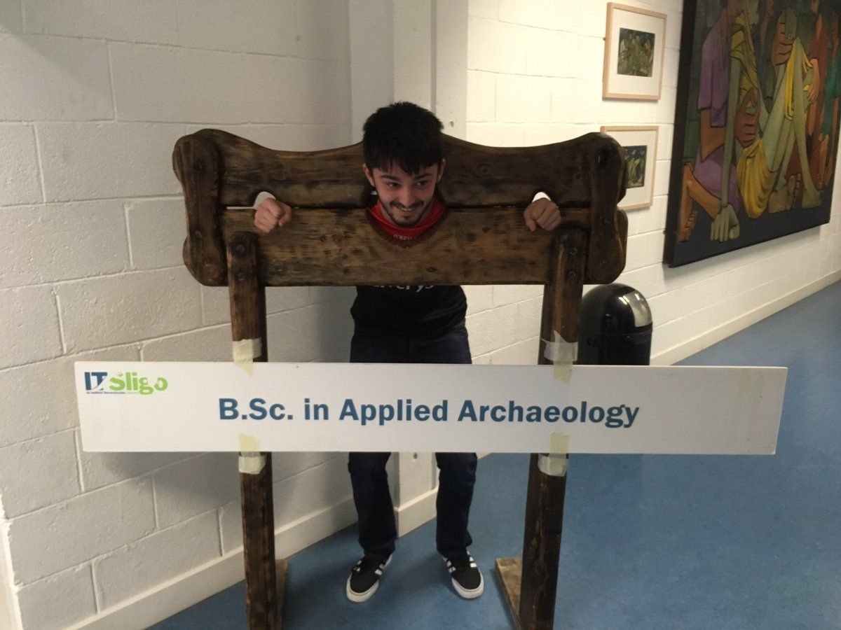 Our #ITSligo #Archaeology Exhibition begins here.... #OpenDay #CAO <br>http://pic.twitter.com/ZcbZXP8THS