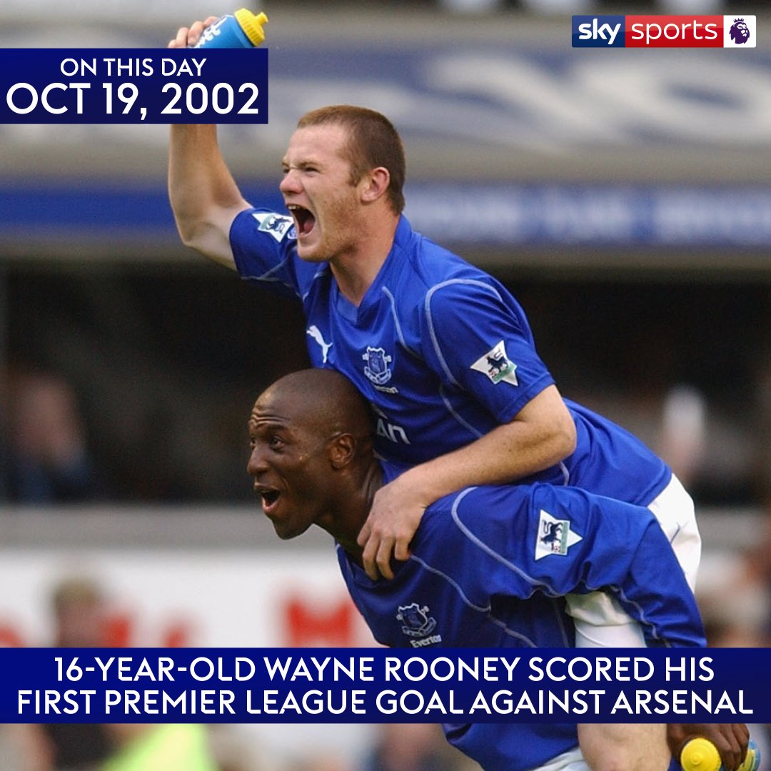 It's 15 years to the day since @WayneRooney's first @premierleague goal! Watch more @Everton v @Arsenal moments: https://t.co/kANjThtM4P