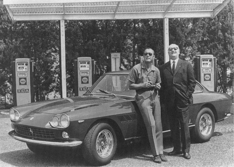 Prince Bernhard of the Netherlands with Enzo Ferrari and a #Ferrari 330 GT Series 1, Maranello, 22 May 1964 <br>http://pic.twitter.com/VvRCk1cjED