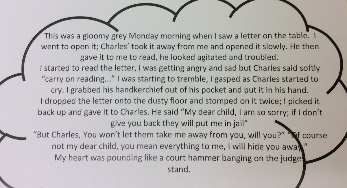 Our children have loved writing pretending to be Sophie or Charles from #Rooftoppers by @kdbrundell @_Reading_Rocks_pic.twitter.com/GIkTy8UKoJ