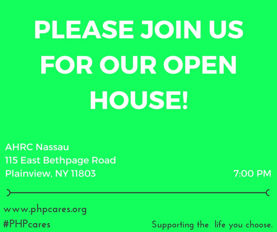 Are you eligible for OPWDD services and have #Medicare and #Medicaid? Stop by Open House at @AHRCNassau tonight at 7pm!<br>http://pic.twitter.com/HvgCzbqMr3