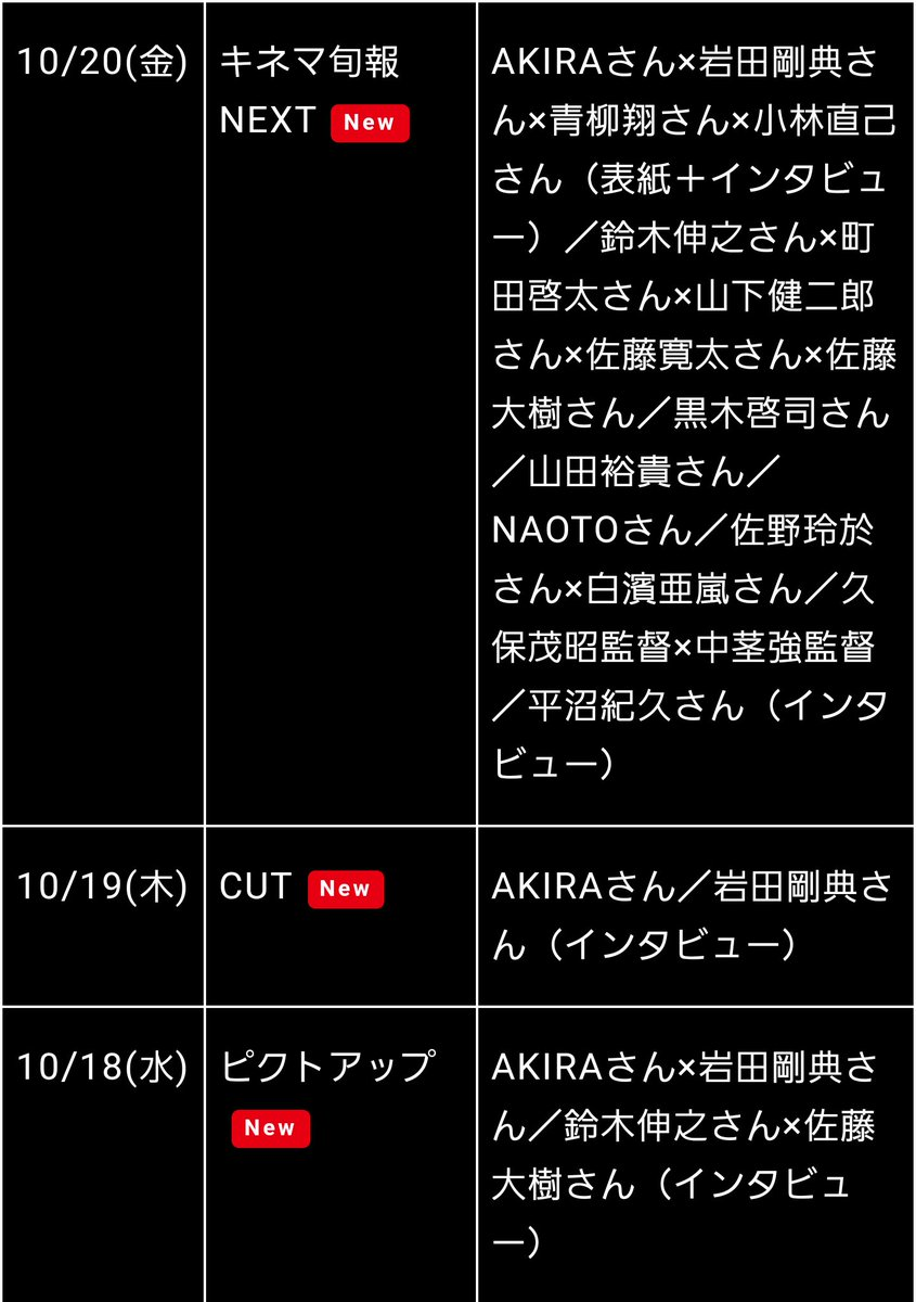 ハイローザム3雑誌掲載情報!20日発売のGGって黒崎会長とコブラちゃんが対談してるんですか!?生、コンの話は出てきますか…(冷汗)