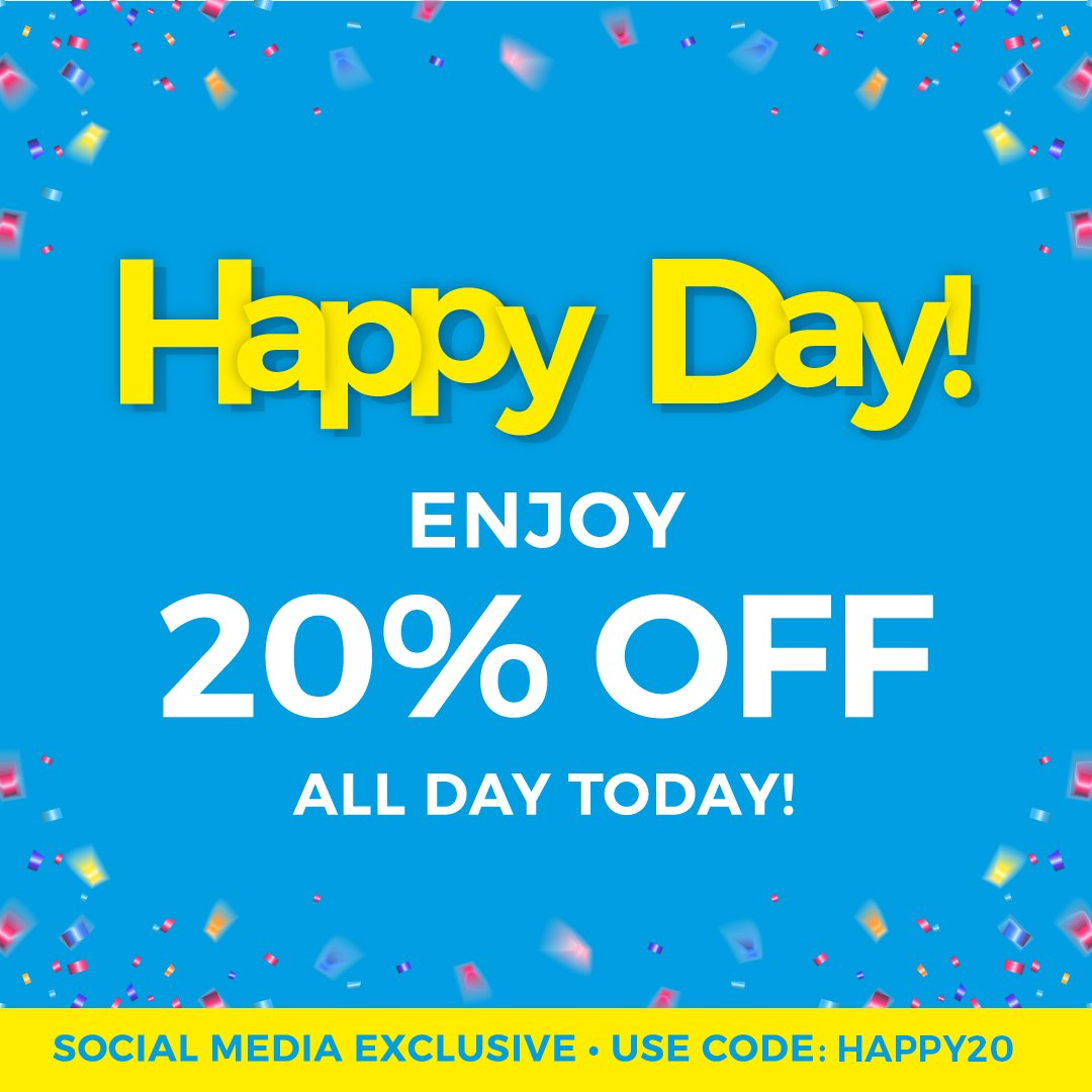 #HappyDay. To celebrate #HappyWeek starting tomorrow we are giving you all 20% off everything for the full day!  http://www. thefragranceshop.co.uk / &nbsp;  <br>http://pic.twitter.com/i1KLYbqjQG