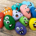 Monster Rock Painting Craft For Kids #Getcreative #crafts #Art #rockpainting #Homeschool https://t.co/pMKIhyC81j #Halloween