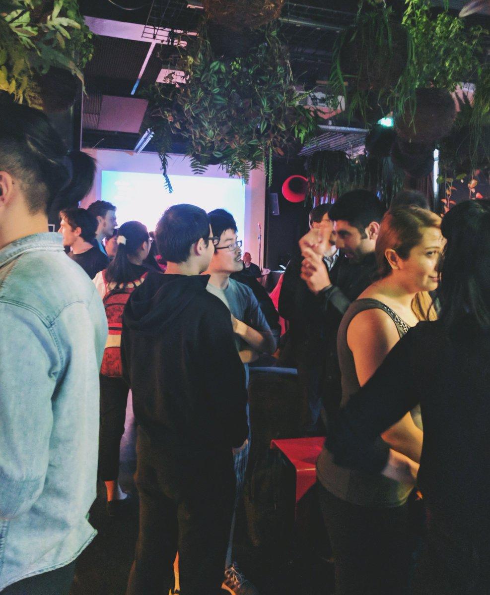 #Melbourne Social is going off! @LukeMesiti thanking sponsor @Xero &amp; @joshparnham talking about #Hacktoberfest event we&#39;re doing next week!<br>http://pic.twitter.com/4e4KZiOKjB