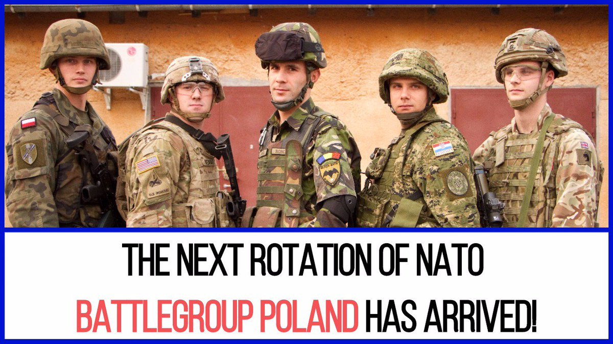 TOMORROW! The next rotation of the US-led @NATO battlegroup takes command in 🇵🇱.  Allies are united behind our common defense. 🇺🇸🇬🇧🇷🇴🇭🇷