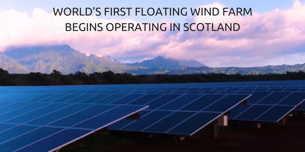 Scotland is now home to a £200M floating offshore wind farm - the first in the world!  http:// ow.ly/uLim30fYXVF  &nbsp;   #renewables #sustainability <br>http://pic.twitter.com/Yo2Rld3tPe