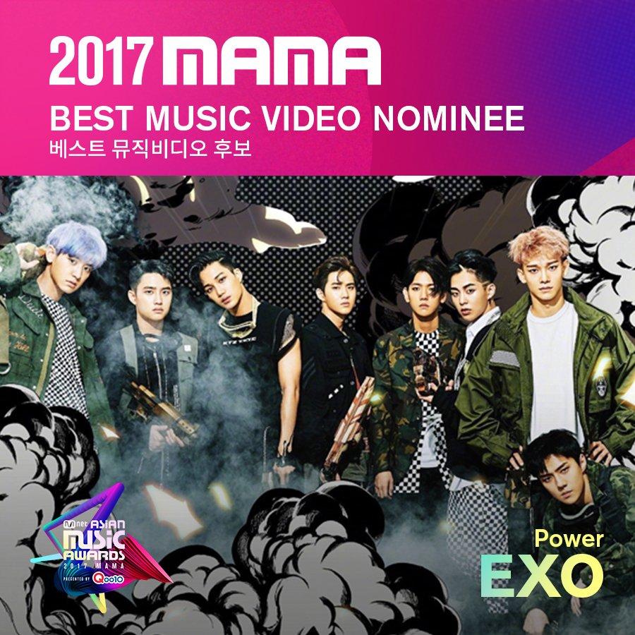 [#2017MAMA] Best Music Video Nominees #EXO #TWICE #WannaOne Vote▶https...
