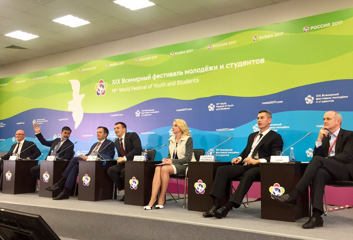 #WFYS2017 @RussiaMinzdrav @SaldanhaVP @UNAIDS  @ChernyshenkoRu @Gazprom  @AlibabaGroup together on Images #economy for the #Future #endaids<br>http://pic.twitter.com/dxjUVnsq5W