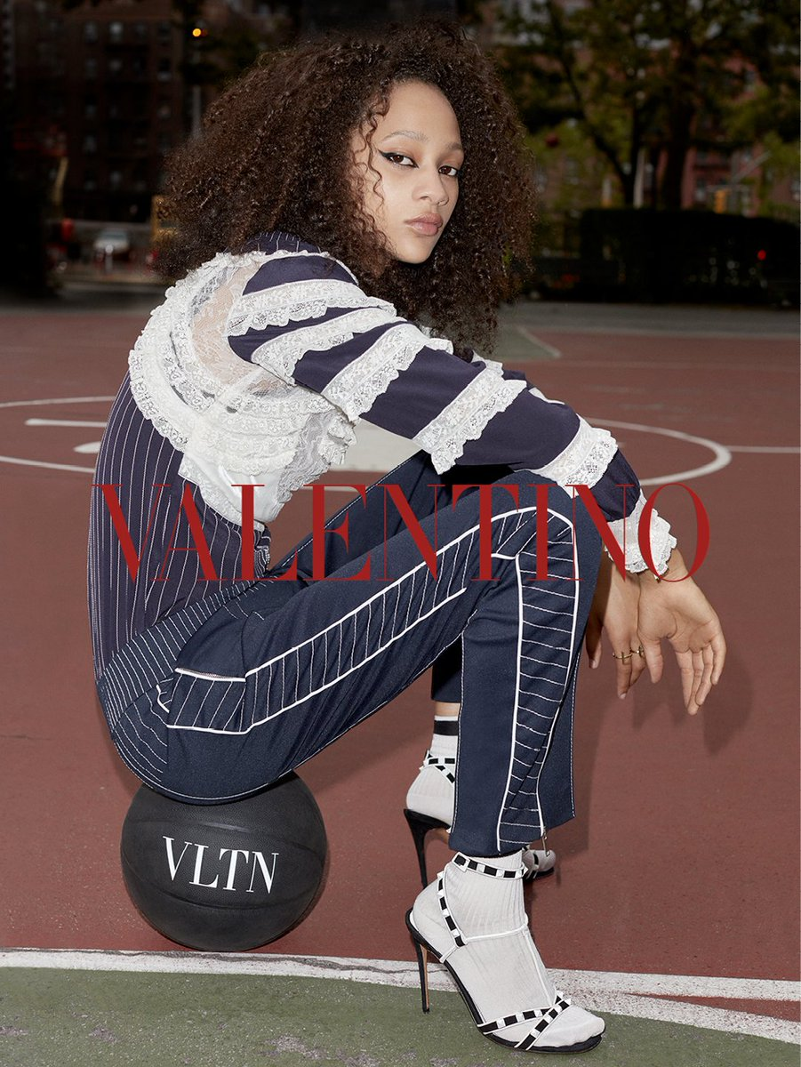 #SelenaForrest embodies the athletic perspective of the #VLTN Collection captured in the new #Resort2018 Campaign https://t.co/GPVgzQH60J