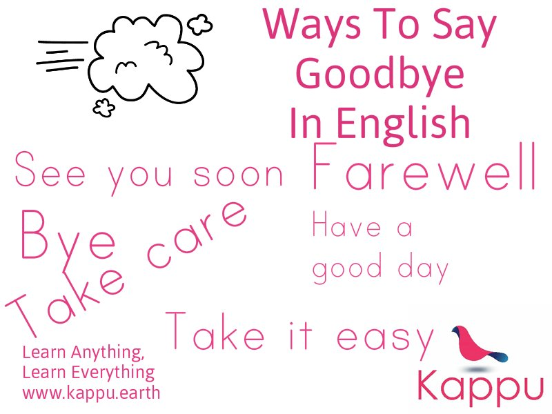 6 ways to say goodbye in English #learnenglish #学汉语 #学英语 #英语 #StudyEnglish #EnglishIdioms  https:// kappueducation.wordpress.com/2017/10/19/6-w ays-to-say-goodbye-in-english/ &nbsp; … <br>http://pic.twitter.com/heratJisY5