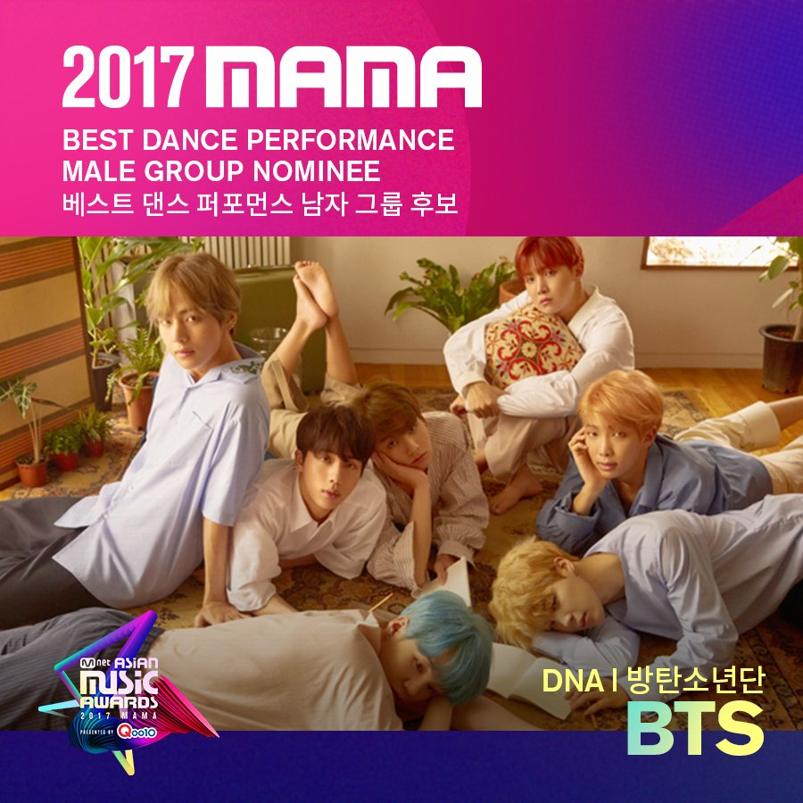 [#2017MAMA] Best Dance Performance Male Group Nominees #BTS #VIXX #SEV...