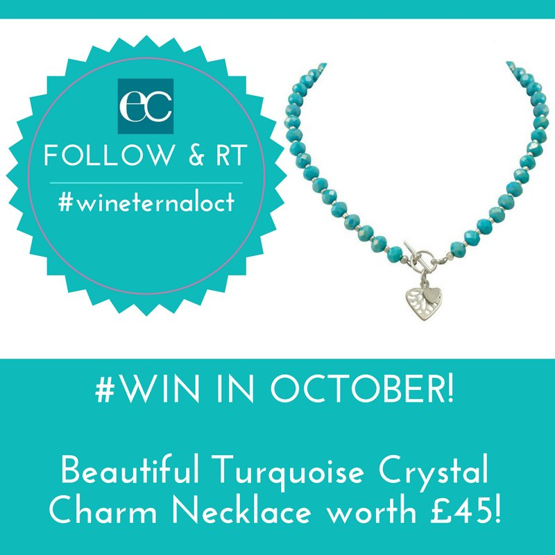 October #Giveaway  #Follow / #RT to #win this stunning turquoise crystal charm necklace worth £45  Ends 31/10/17 ONLY  #wineternaloct<br>http://pic.twitter.com/WKvgzdrLOw