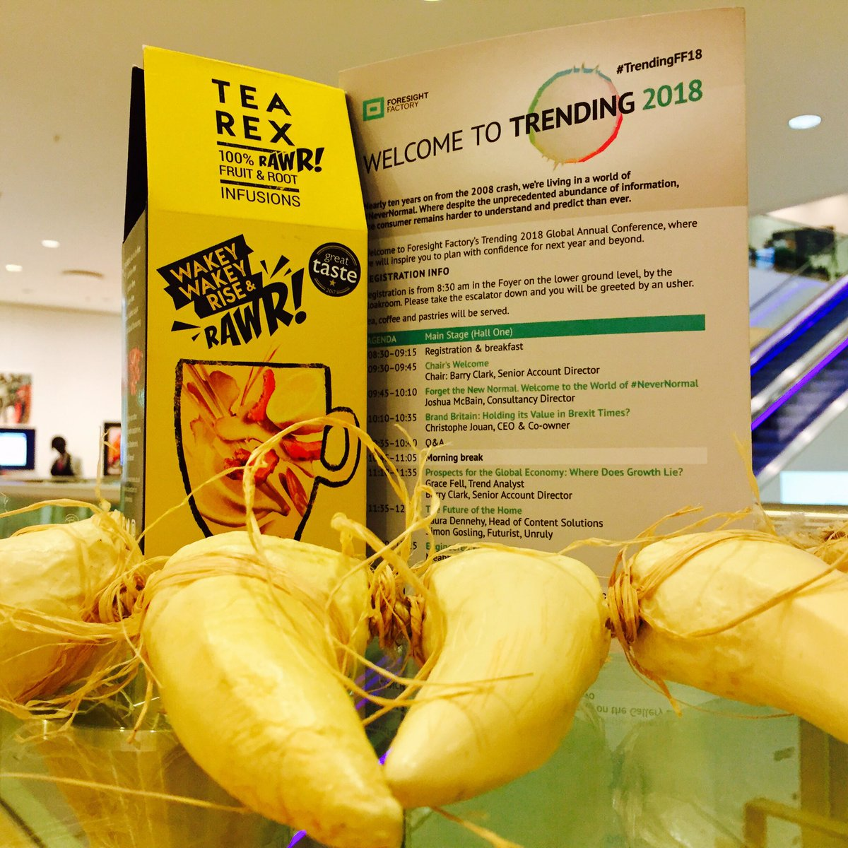 #TEAREX unleashed at #trendingFF18 Taste the world&#39;s 1st FRESH fruit &amp; root infusions @futurethoughts #RAWR <br>http://pic.twitter.com/bDd8wUQJTk