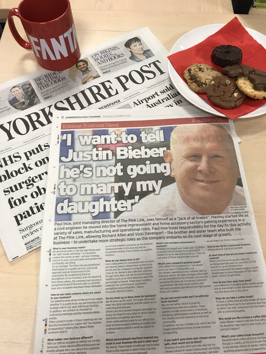 #Spotted in today's @Examiner. Paul Ince @ThePinkLinkLtd shares a coffee &amp; family secrets with @KirkleesBN! #FantasticClient #BusinessNews <br>http://pic.twitter.com/fhLFkWNdhr