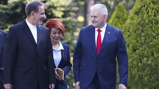 #Turkish PM meets #Iran 's First Vice #P...