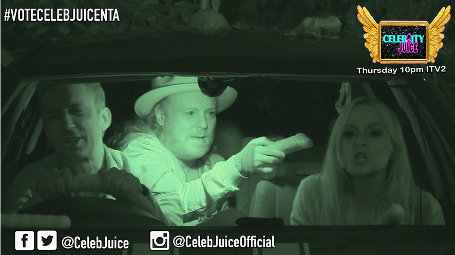 Int @Fearnecotton having the best time dogging with @BrunoTonioli and @lemontwittor #CelebJuice https://t.co/9yIsdD4ebU