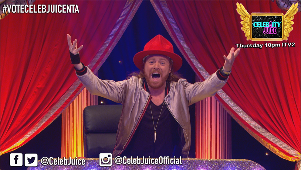 It's Thursday! It's #CelebJuice Day! Ooossshhh! 10pm, @itv2 Guaranteed fun! https://t.co/VI42ZxmoeP