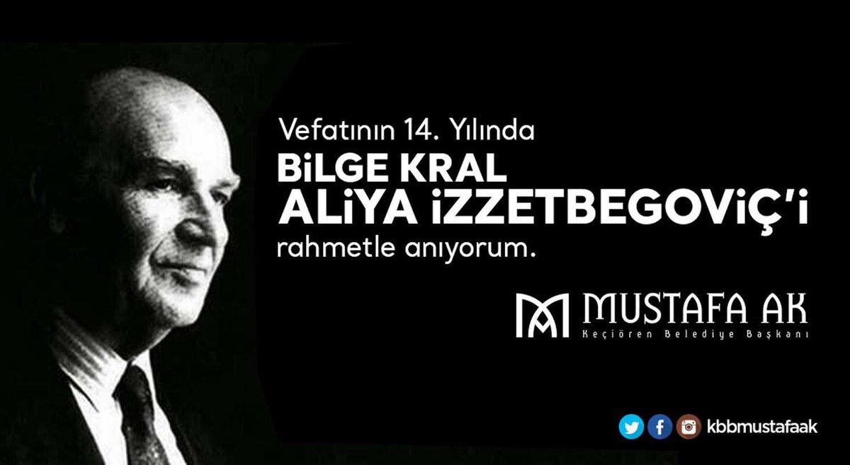 Vefatının 14. Yılında Bilge Kral #AliyaİzzetBegoviç 'i rahmetle anıyor...