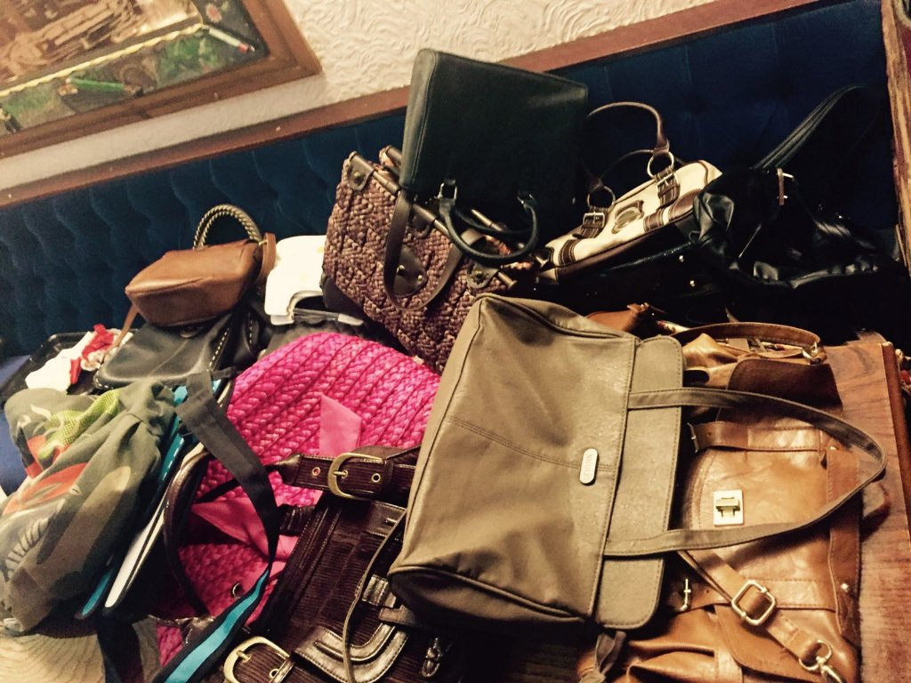 "julie.tesconorthwich on Twitter: ""BHF bring a bag of clothes & handbag swap.… """
