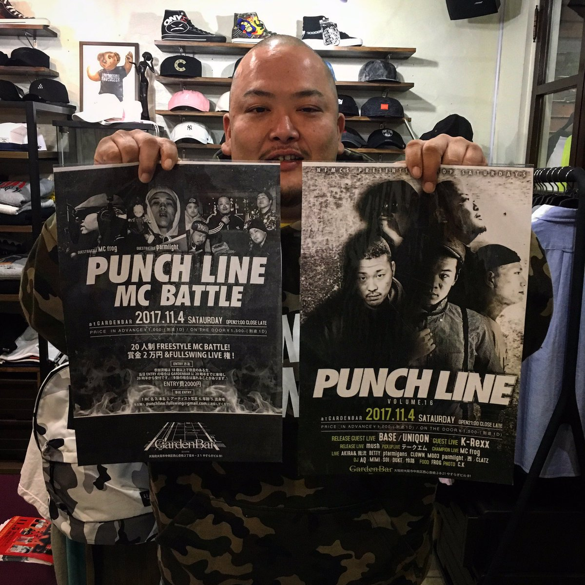 11/4(sat)PUNCH LINE at GARDENN BARFREESTYLE BATTLEも開催されているイベ
