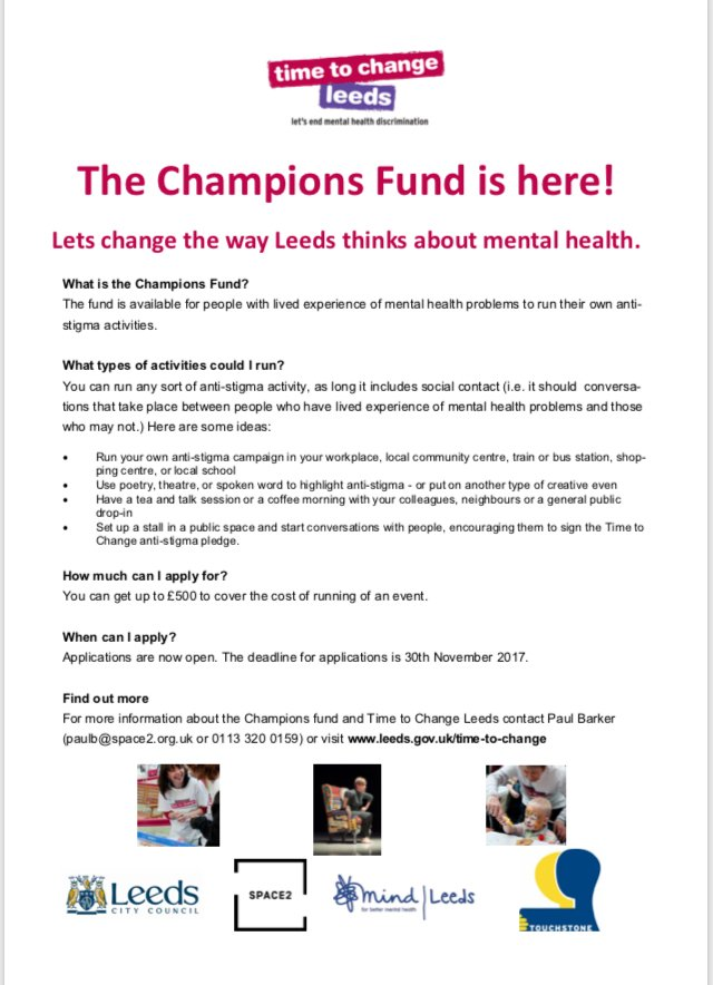 Space2 Leeds On Twitter The Champions Fund Lets Change The Way