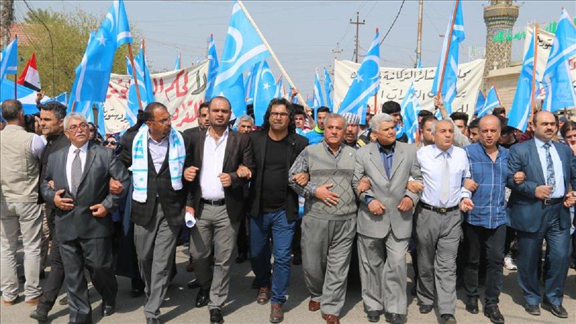 Unknown assailants torch #Turkmen Front...