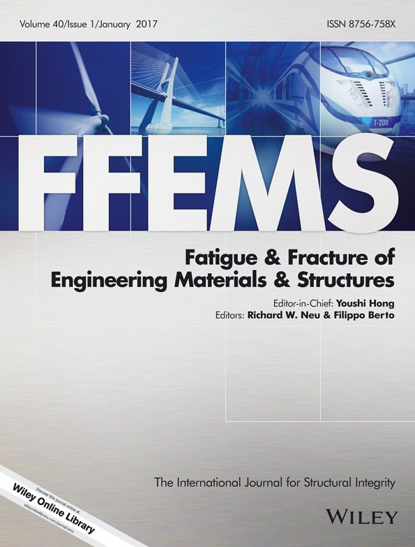 Fatigue & Fracture of Engineering Materials & Structures