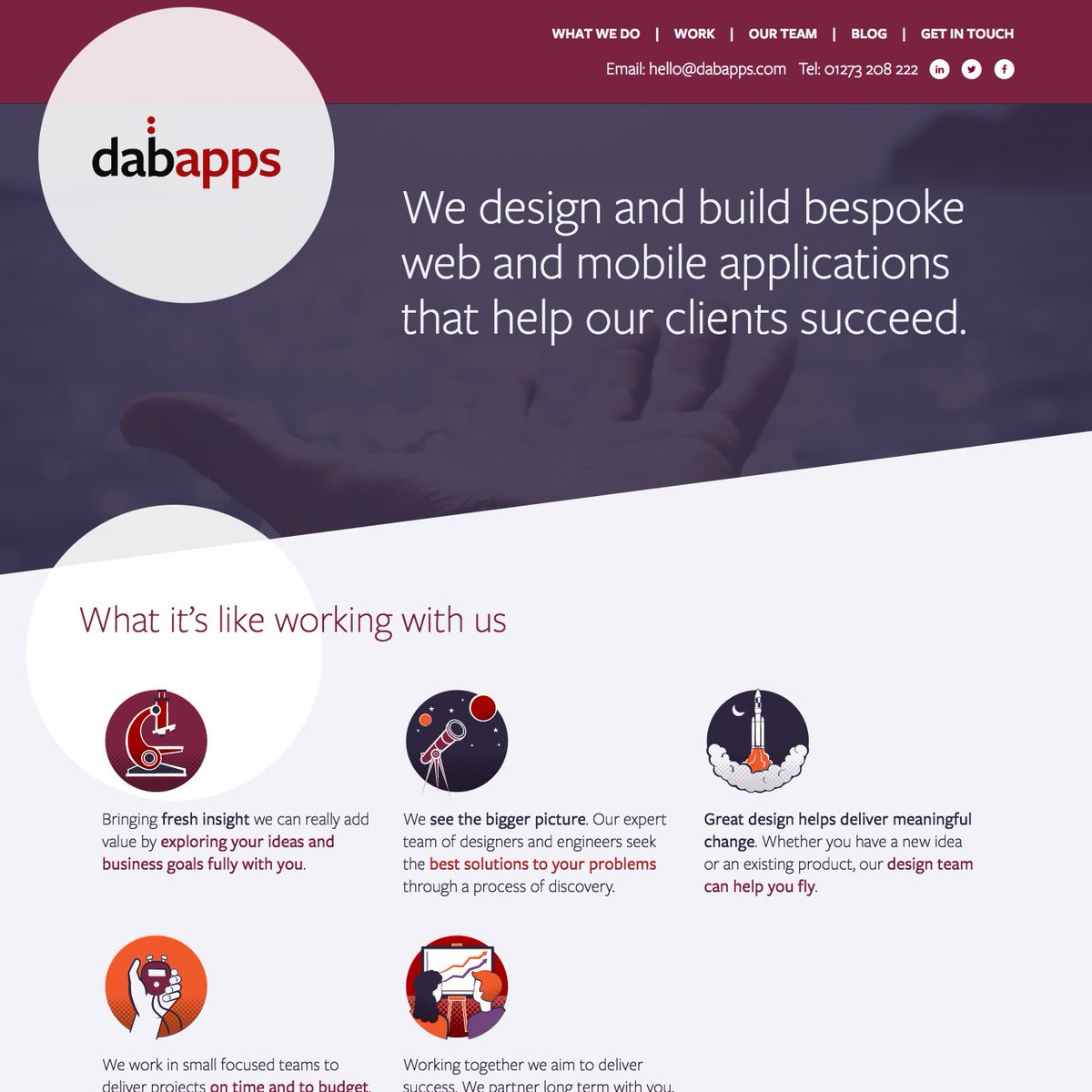 Check out our brand new website   http://www. dabapps.com  &nbsp;   #Brighton #softwaredevelopment #Apps #webapps #Software #designandbuild #dabapps<br>http://pic.twitter.com/7Z6jsdb7Za