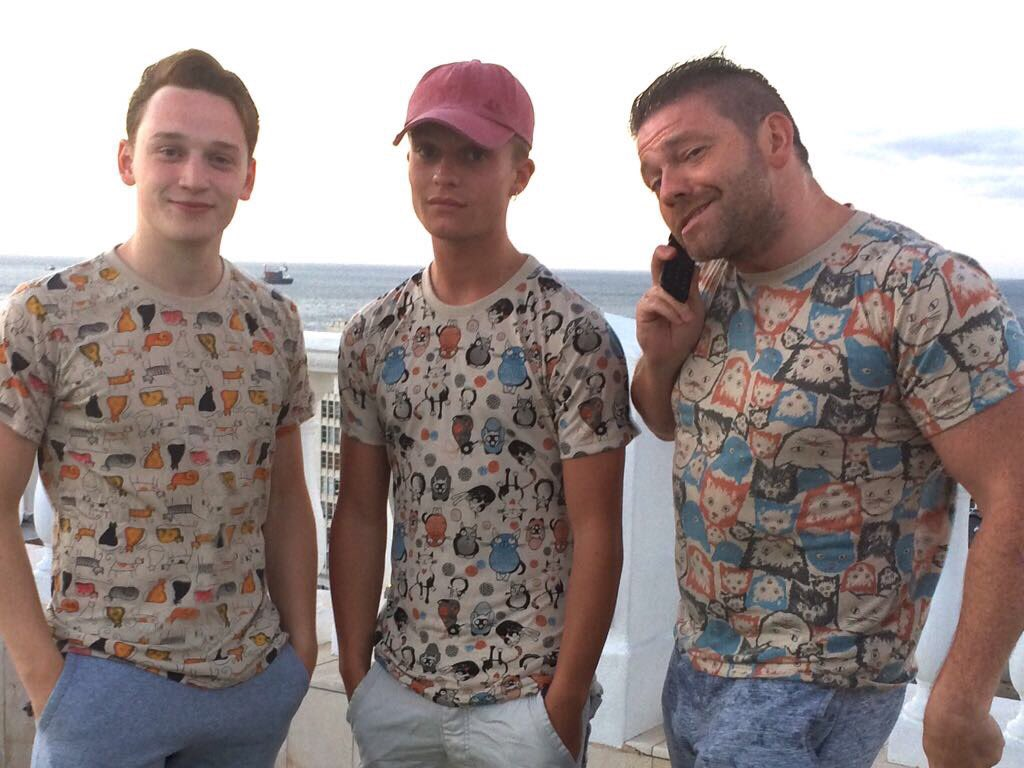 at the boys from #thelastpost all funky-like in their #FurCats&#39; tshirts #catshop #Chorlton #fridayfeeling #coolcats #friday #cat #didsbury<br>http://pic.twitter.com/wS6O4VA4Mv