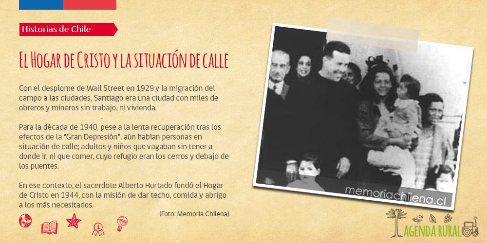 #UnDíaComoHoy se fundó el Hogar de Cristo, una iniciativa cuya importa...