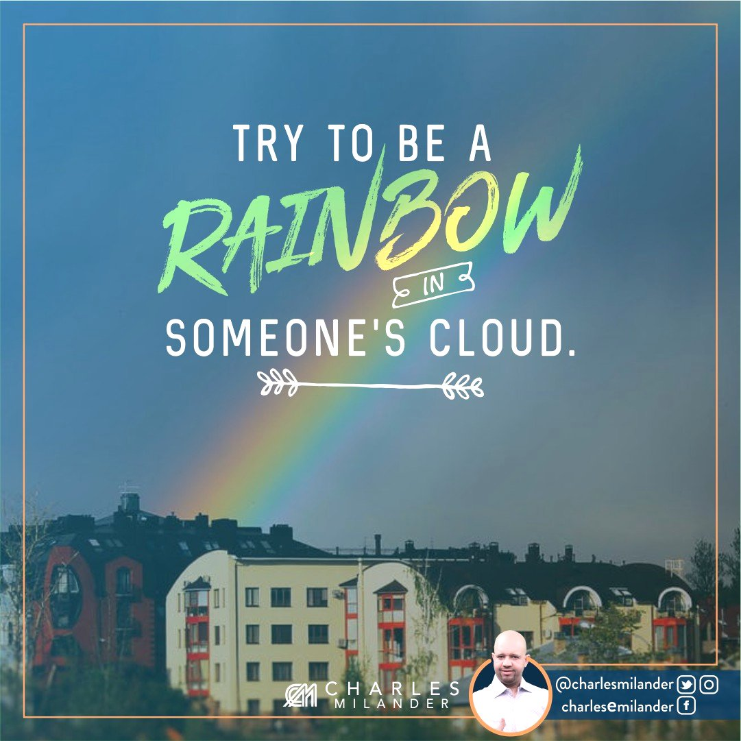 Try to be a rainbow in someone&#39;s cloud. #boss #business #quotes #fashion #entrepreneurship #success #motivation #inspiration #nyc<br>http://pic.twitter.com/UUvuvLoQu1