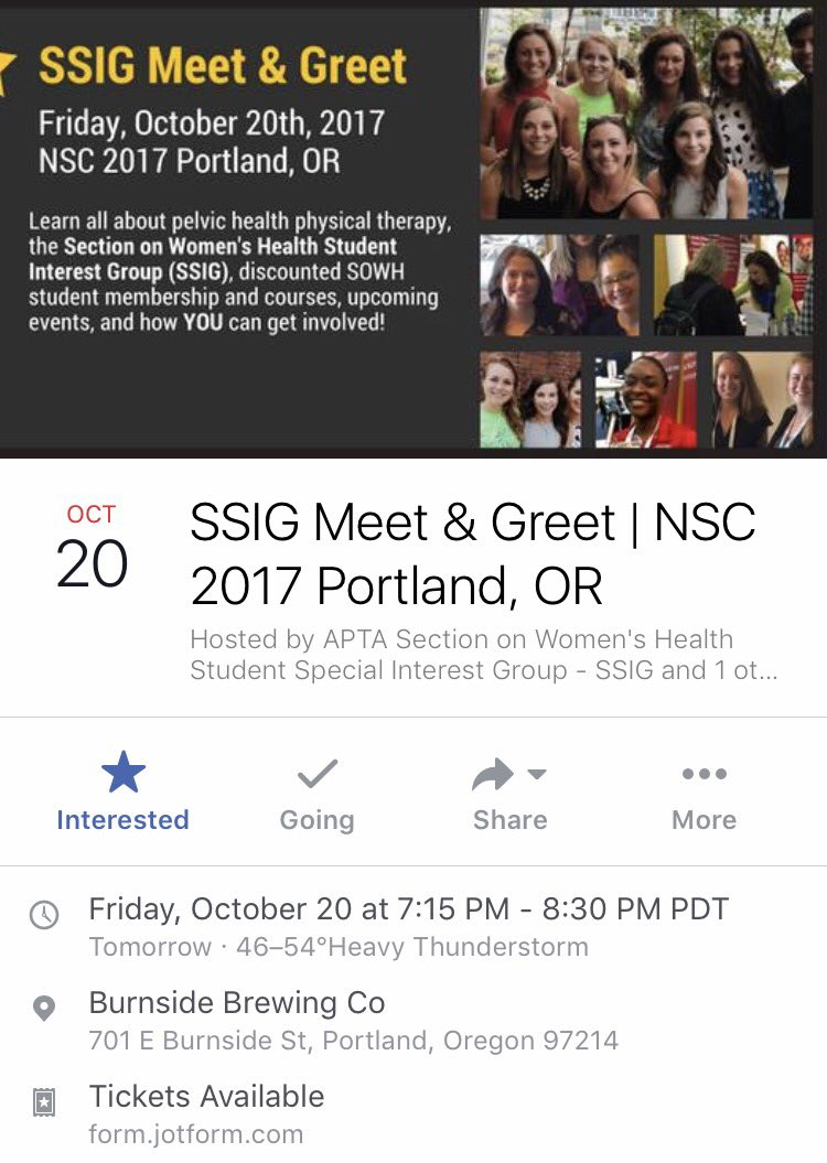 Don&#39;t miss out on your chance to meet other students interested in #WomensHealth tomorrow night at #APTANSC! RSVP:  http:// bit.ly/2xEJ1Ne  &nbsp;  <br>http://pic.twitter.com/5lxeJmXhKZ