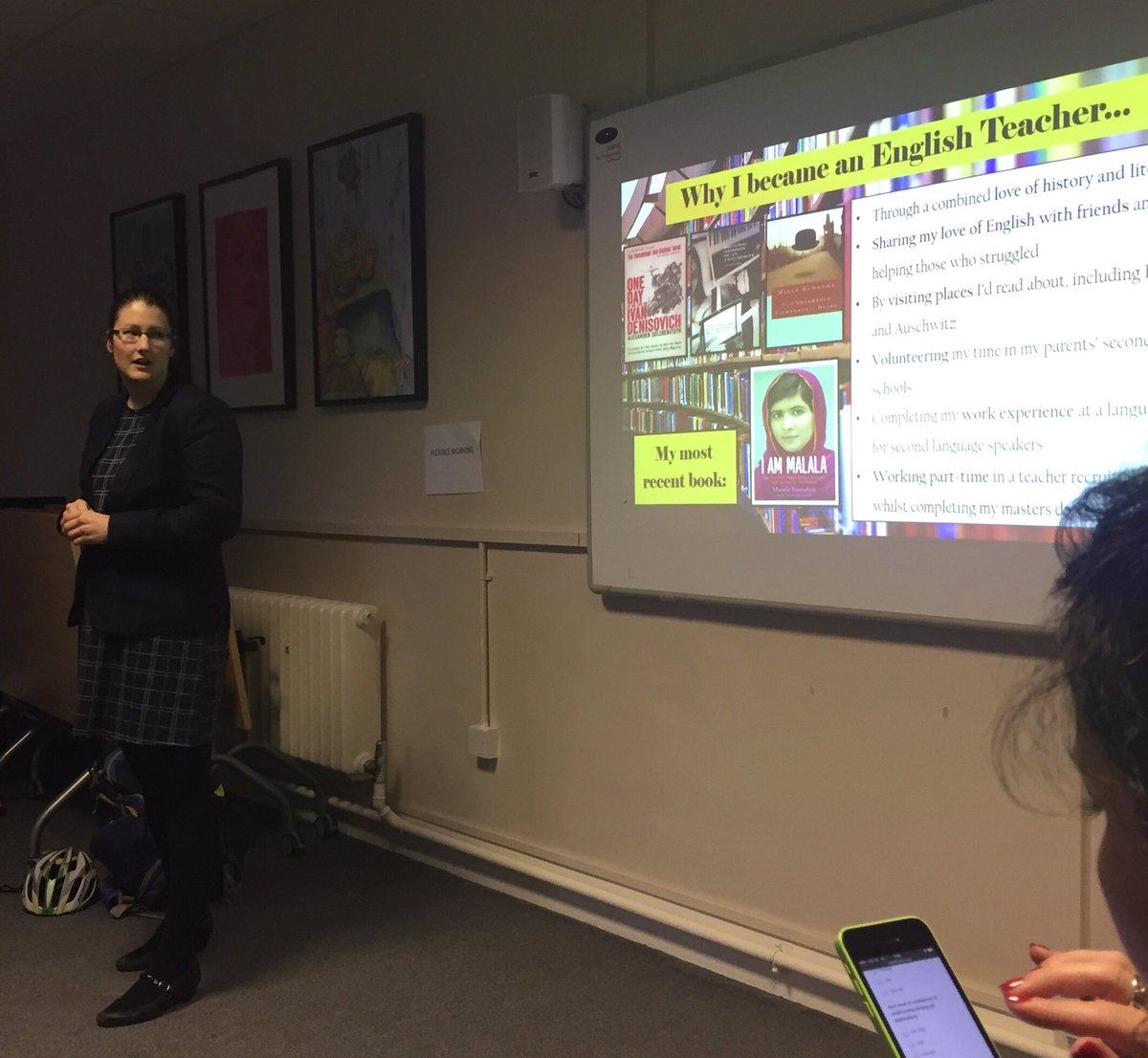 @RebeccaLearning shares her #leadership journey from #englishteacher to AP, being 10% braver #MTPTproject #WomenEd <br>http://pic.twitter.com/1ieeZD3Qmw