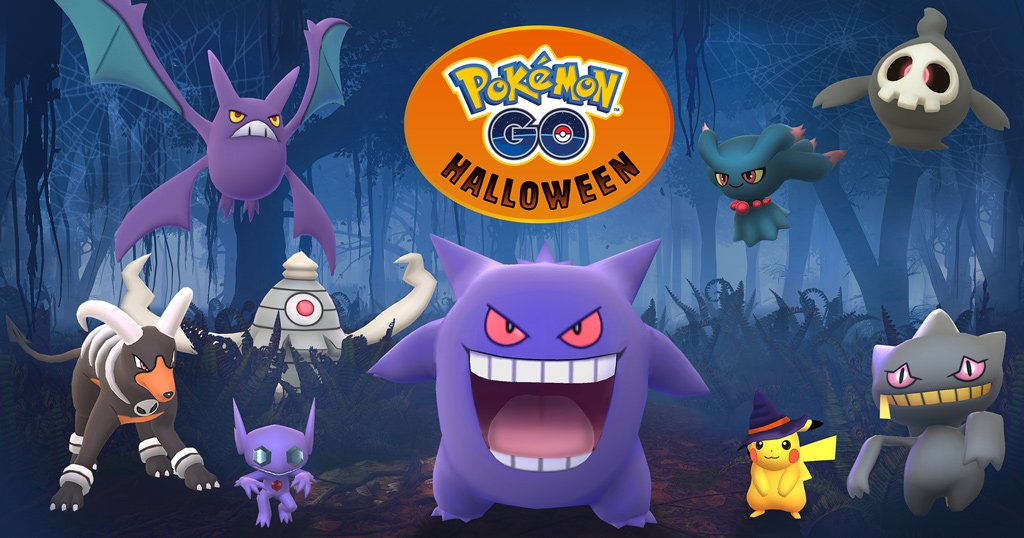 More spooky #Pokemon have arrived in #PokemonGO! Starting 10/20, you can encounter Sableye, Banette, and more:  http:// bit.ly/2yt1M5Z  &nbsp;  <br>http://pic.twitter.com/NThumAB0xA
