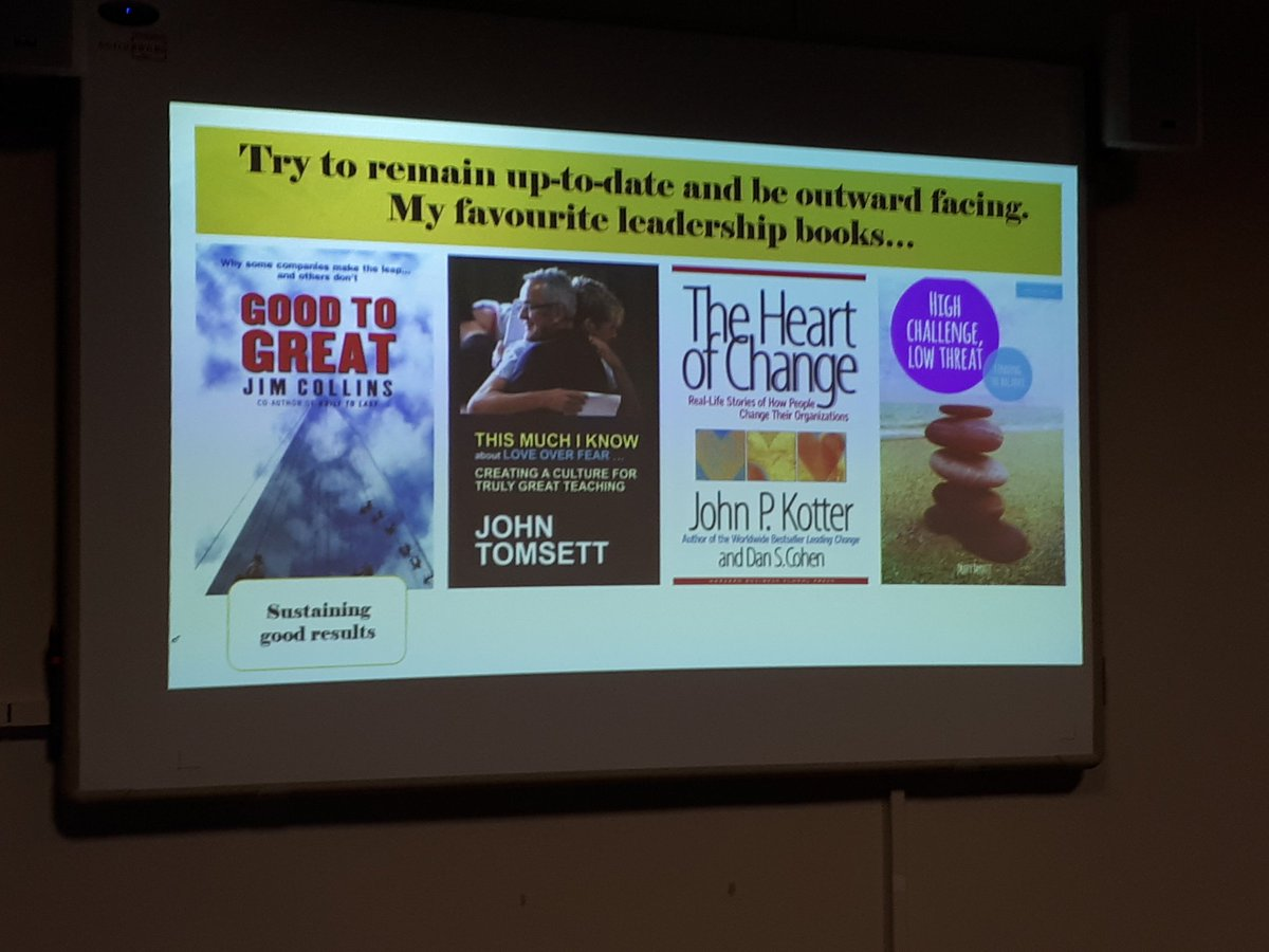 Recommended leadership reading from @RebeccaLearning to b outward facing.  #WomenEd  @MaryMyatt @johntomsett<br>http://pic.twitter.com/amAf5NbHwY