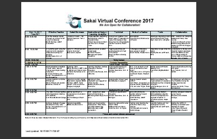 Conference Program now available for the Sakai Virtual Conference 2017! #SakaiVC17  http:// virtconf.apereo.org / &nbsp;   #edtechchat #opensource #highered <br>http://pic.twitter.com/9BOodWs9Yq