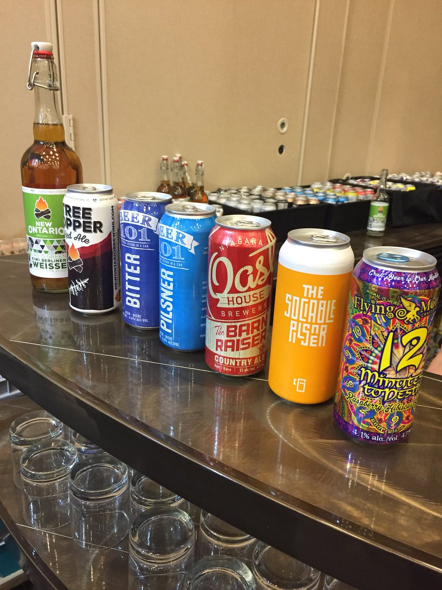 Lots of tasty brews to try at the @OntCr...