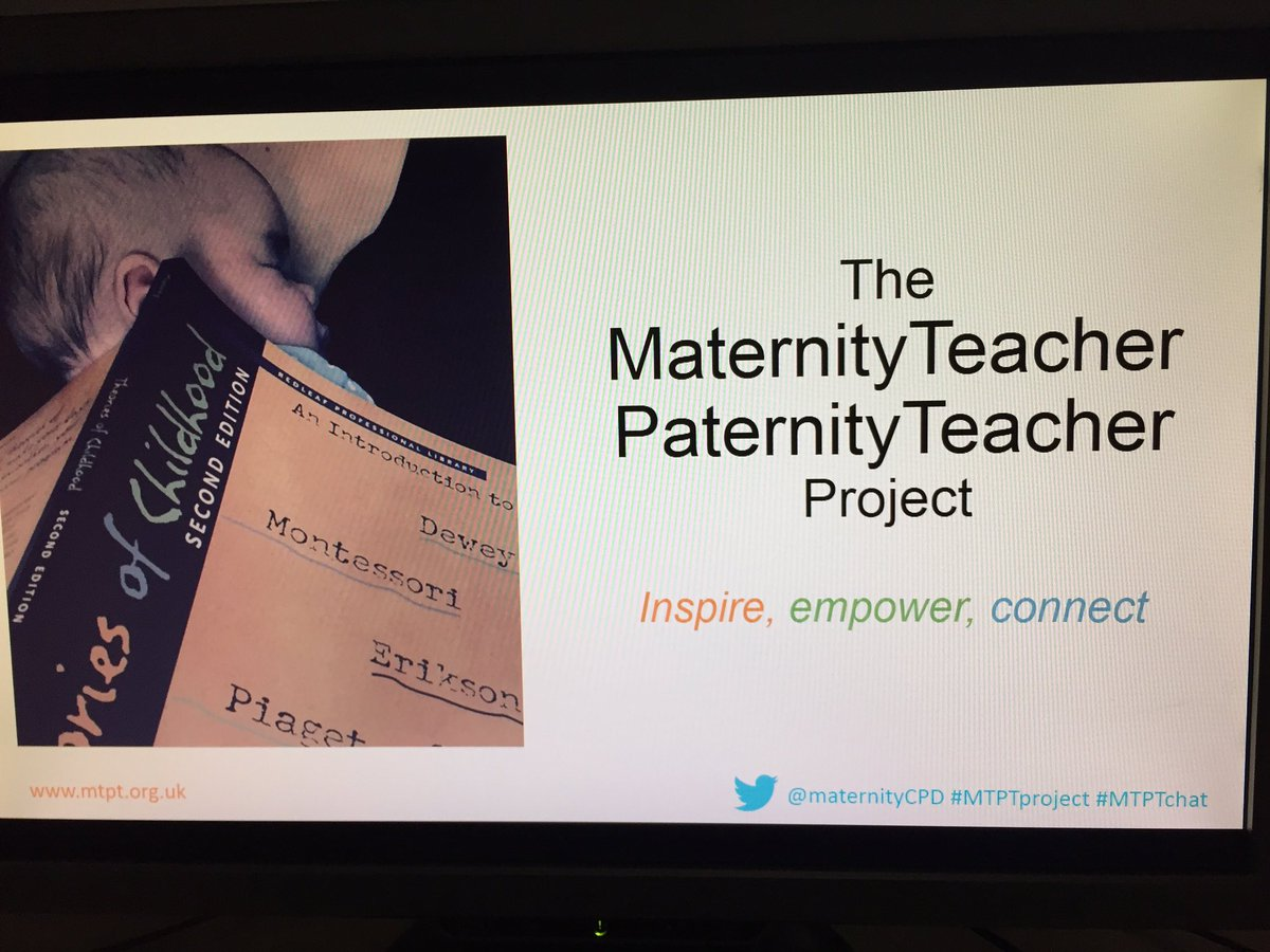 @maternityCPD shares the inception of #MTPT project and why it&#39;s important.  #WomenEd @WomenEdLondon<br>http://pic.twitter.com/IwL1zV866B