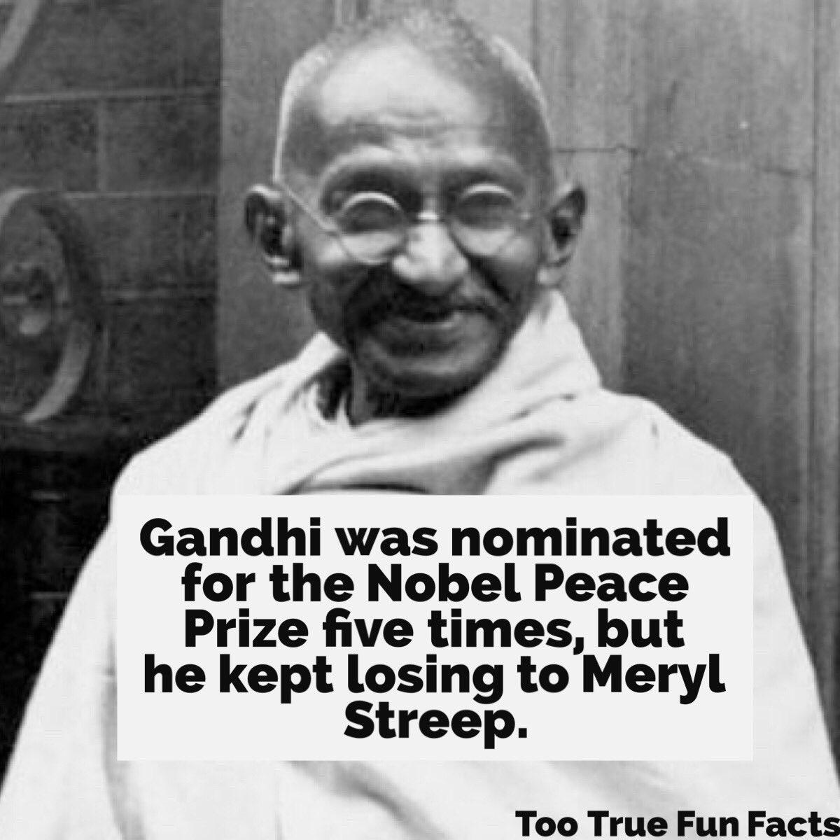 History Fun Fact. #History #historic #historical #HistoryMakers #Gandhi #MerylStreep #actor #comedy #funny #meme #memes #parody #satire<br>http://pic.twitter.com/ZliTTGTXV5