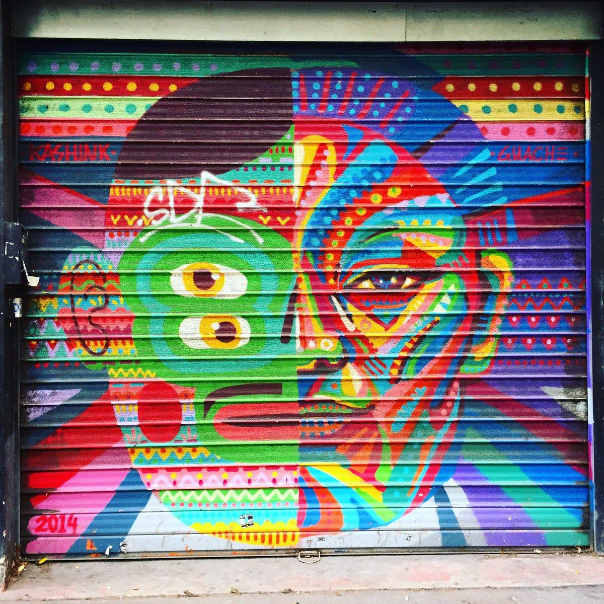 Collab between #kashink &amp; #guache #guacheart  #streetart #graffiti #graff #spray #bombing #wall #urbanart #graffitiwall #graffart<br>http://pic.twitter.com/0EcKFFcXf9