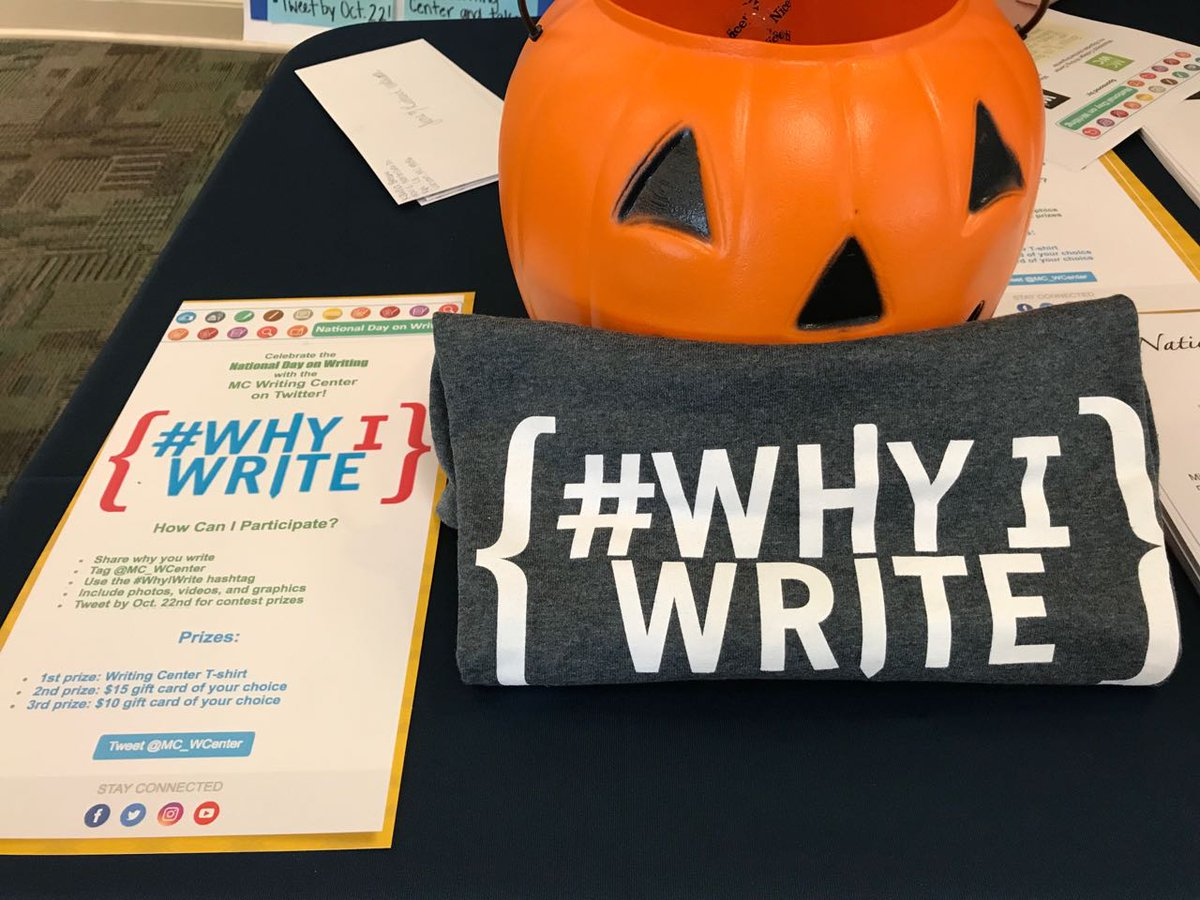Mc Writing Center On Twitter Whyiwrite Contest Is Until Sunday Share Why You Write Tag Us Win A T Shirt Or Gift Card Of Your
