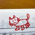 ヒデちゃんの描いた猫🐈 pic.twitter.com/45yMpxOZ0A