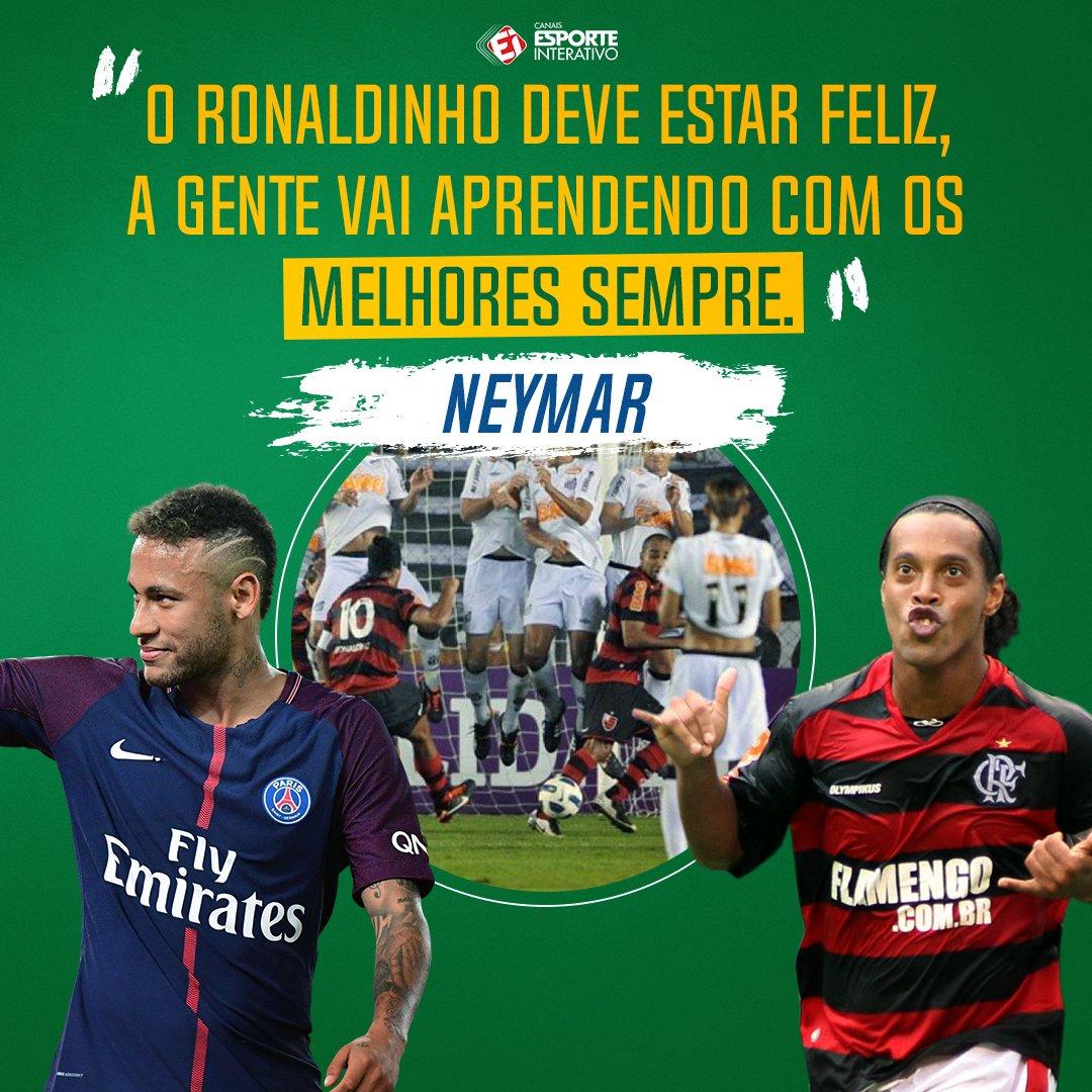 .@neymarjr deu essa declaração após seu gol de falta pelo PSG à la @10Ronaldinho! MONSTROS DEMAIS!