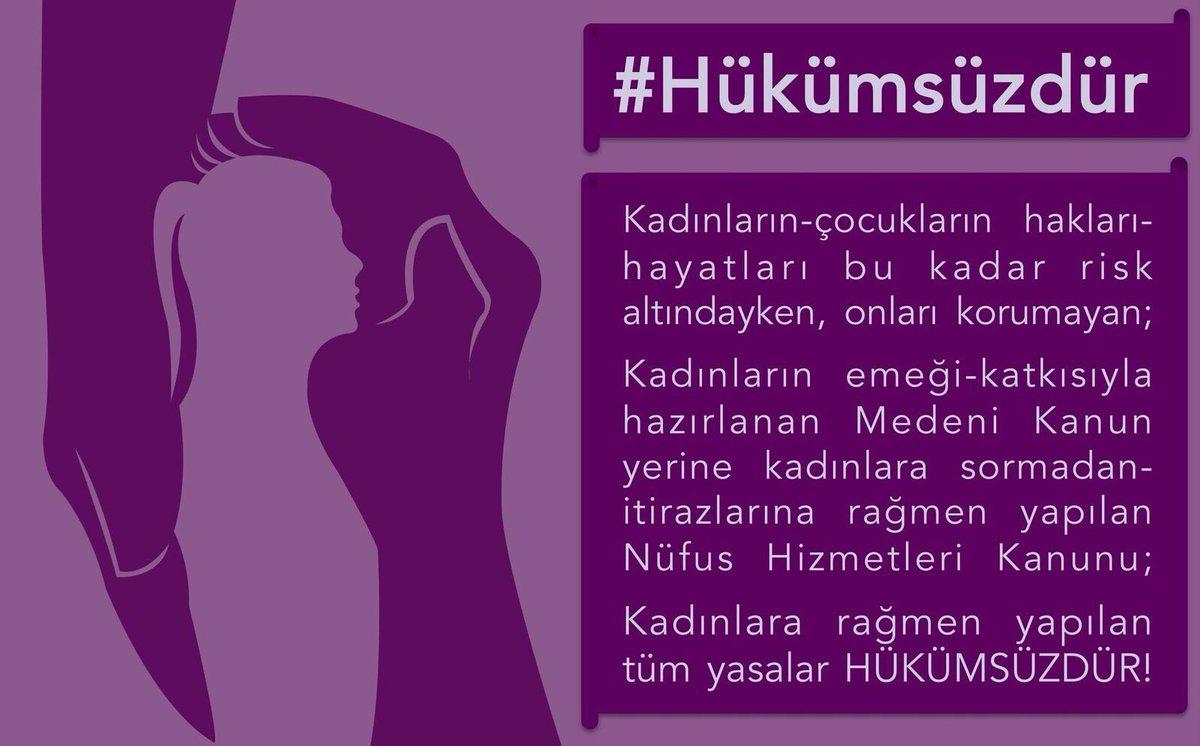 Kadınların rızası olmadan, kadınlara rağmen yapılan #MüftülükYasasiHük...