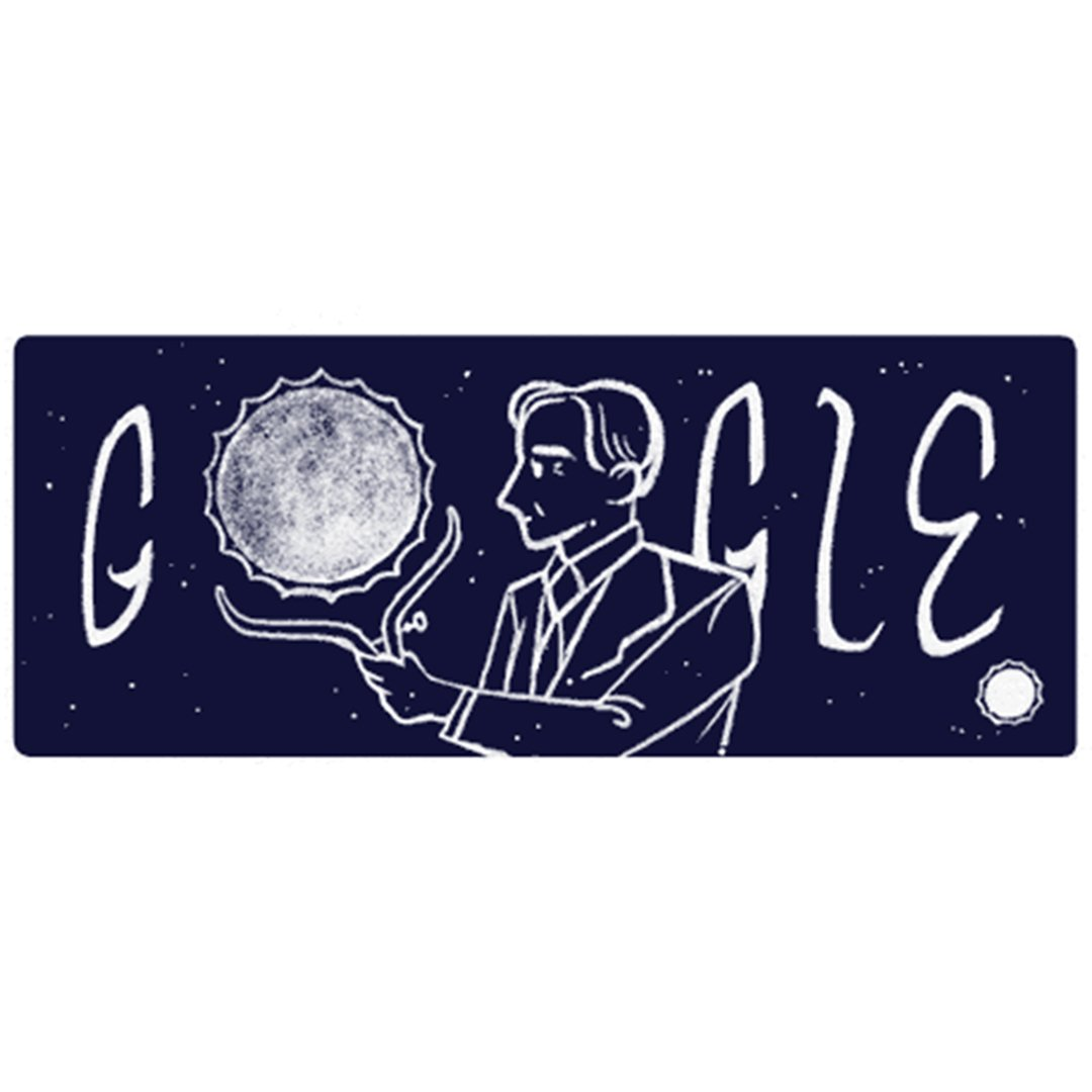 #Today 's#GoogleDoodle  honors Nobel Prize-winner for whom Chandra X-ray Observatory was named! Subrahmanyan#Chandrasekhar ,#BOTD  in 1910!