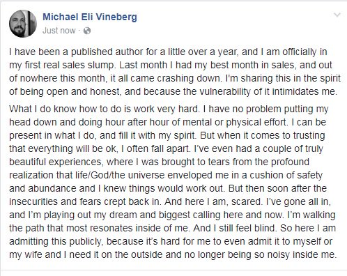 A very honest share.  #writerslife #vulnerability <br>http://pic.twitter.com/smvVTJ4Ae9