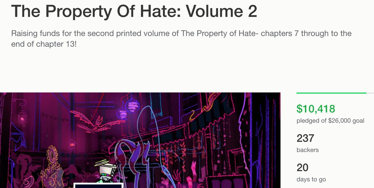 reminder that the #Kickstarter is still a-happening, and how! we hit the 10k mark, wowie! go crush it some more here  https://www. kickstarter.com/projects/16731 95448/the-property-of-hate-volume-2 &nbsp; … <br>http://pic.twitter.com/PmiS6MaSw8