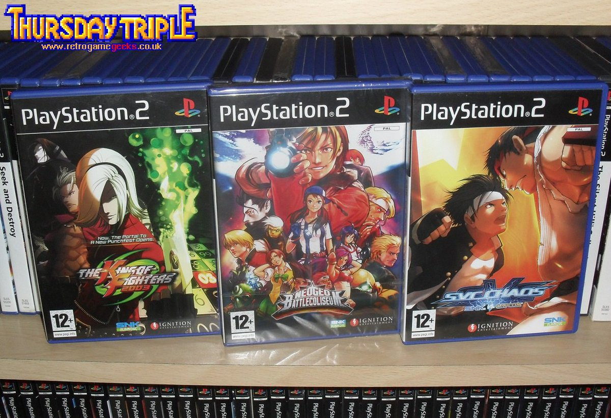 THE THURSDAY TRIPLE: Here&#39;s 3 times when SNK made the Playstation 2 console even more awesome #retrogaming #playstation #arcade #SNK #gaming<br>http://pic.twitter.com/669tvDJdp5